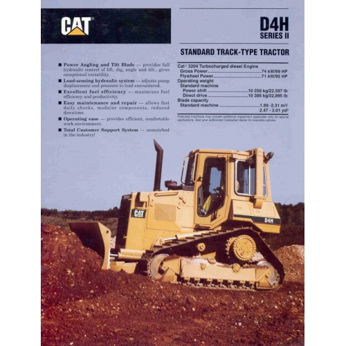 Caterpillar D4H Series 2 Dozers / Track-Type Tractor Loaders